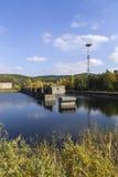 Покинутая атомная электростанция Стоковая Фотография