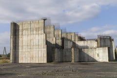 Покинутая атомная электростанция Стоковая Фотография RF