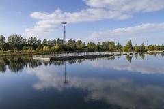 Покинутая атомная электростанция Стоковые Фото