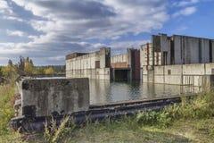 Покинутая атомная электростанция Стоковое Фото