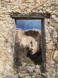 покинутая деревушка Франции стоковая фотография