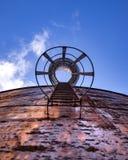 Покинутая лестница водонапорной башни Стоковое Изображение
