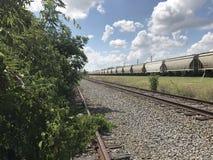 покинутая железная дорога Стоковая Фотография