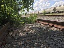 покинутая железная дорога Стоковые Фото