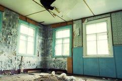 покинутая комната стоковая фотография