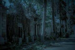Покинутая крипта на кладбище стоковые фото
