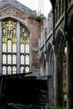 Покинутая & обрушенная церковь города методист - Гэри, Индиана Стоковое фото RF