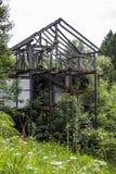 покинутая дом незаконченная Стоковое Изображение RF