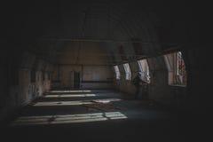 Покинутая пренебреженная больница стоковое фото rf