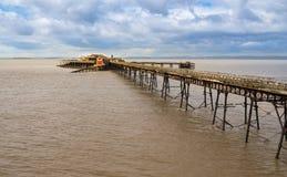 Покинутая пристань Birbeck на Weston-супер-конематке Стоковые Фото