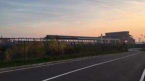Покинутая промышленная зона в Sesto San Giovanni, Италии Европе видеоматериал