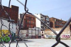 Покинутая спортивная площадка Стоковое фото RF