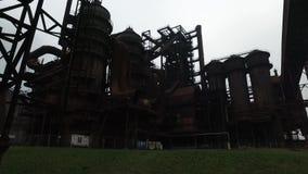 Покинутая стальная фабрика сток-видео