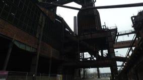 Покинутая стальная фабрика видеоматериал