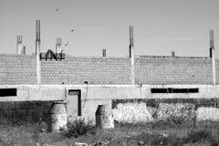 Покинутая строительная площадка Стоковые Фотографии RF