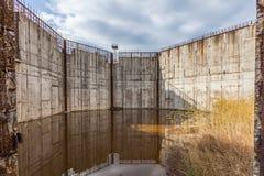 Покинутая строительная площадка атомной электростанции, Польша. Стоковое Изображение RF