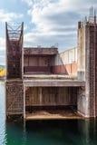 Покинутая строительная площадка атомной электростанции Стоковые Фото