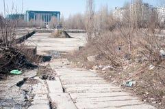 Покинутая строительная площадка Стоковая Фотография
