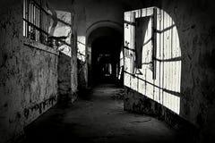 Покинутая тюрьма стоковое фото rf