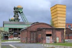 Покинутая угольная шахта в Ahlen, Германии Стоковое Изображение
