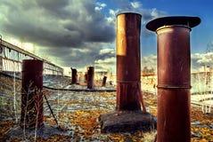 Покинутая фабрика жатки Стоковые Фотографии RF