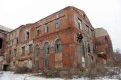 Покинутая фабрика сахара красного кирпича Стоковая Фотография RF