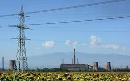 Покинутая фабрика для изготовления металлов в Болгарии Стоковые Фотографии RF