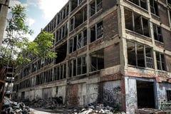 Покинутая фабрика 18 Packard Стоковые Изображения RF