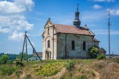 Покинутая церковь в Украине Стоковая Фотография RF