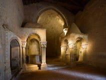 Покинутая церковь монастыря Сан-Хуана de Duero Стоковые Изображения