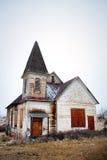 покинутая церковь старая стоковая фотография