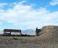 Покинутая шахта в Рейчел Неваде, NV Стоковое Фото