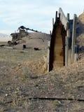 Покинутая шахта в Рейчел Неваде, NV Стоковые Изображения RF