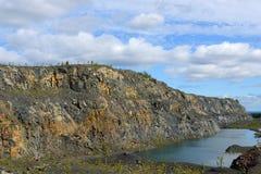 Покинутая шахта в северной Финляндии, Лапландии стоковое фото rf