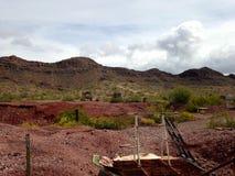 Покинутая шахта около загиба Gila, Аризоны Стоковое Изображение RF