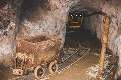 Покинутая шахта - ржавое оборудование Стоковое Фото