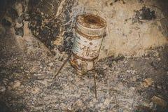 Покинутая шахта - ржавое оборудование Стоковая Фотография