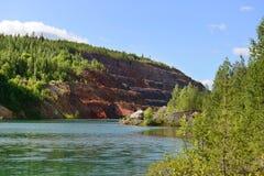 Покинутая шахта. Северная Финляндия Стоковая Фотография