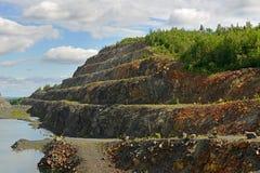 покинутая шахта Северная Финляндия Стоковое фото RF