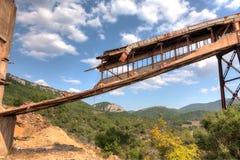 покинутая шахта Стоковая Фотография