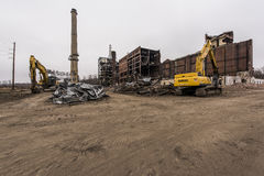 Покинутая электростанция - Огайо Стоковое Изображение