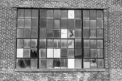 Покинутая электростанция школы с сломленным Windows II Стоковая Фотография RF