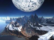 покинутая alien зима виска ландшафта иллюстрация вектора