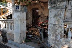 Покинутое здание в Petrovac стоковое фото rf