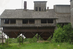 покинутое зерно лифта Стоковые Изображения RF