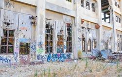 Покинутое здание: Растрепанные обмылки Стоковые Изображения