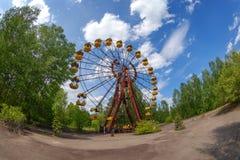 Покинутое колесо Ferris, Pripyat, Украина Стоковое Изображение RF