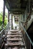 Покинутое крылечко школы в Pripyat стоковая фотография rf