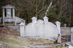 покинутое кладбище Стоковые Фото