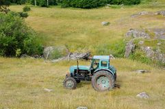 Покинутое машинное оборудование, трактор Стоковая Фотография